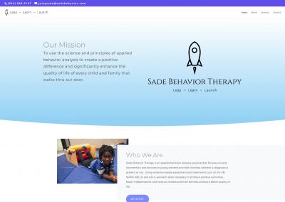 Sade Behavior Web Design