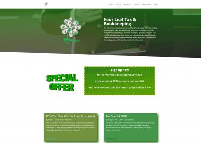 Four Leaf Tax Web Design